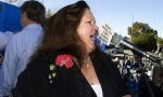 Gina Rinehart protests against the mining tax last year. Photo: Tony Asby